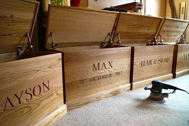 Personalised Wooden Toy Box Toy Box | MakeMeSomethingSpecial.com