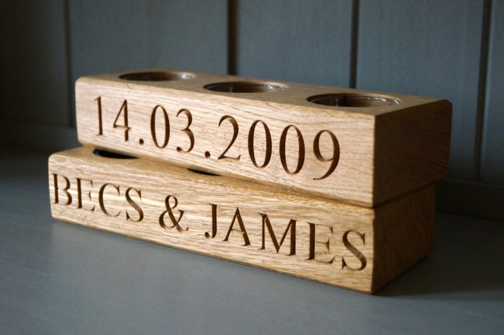 Wooden Tea Lights Holders Engraved and Personalised