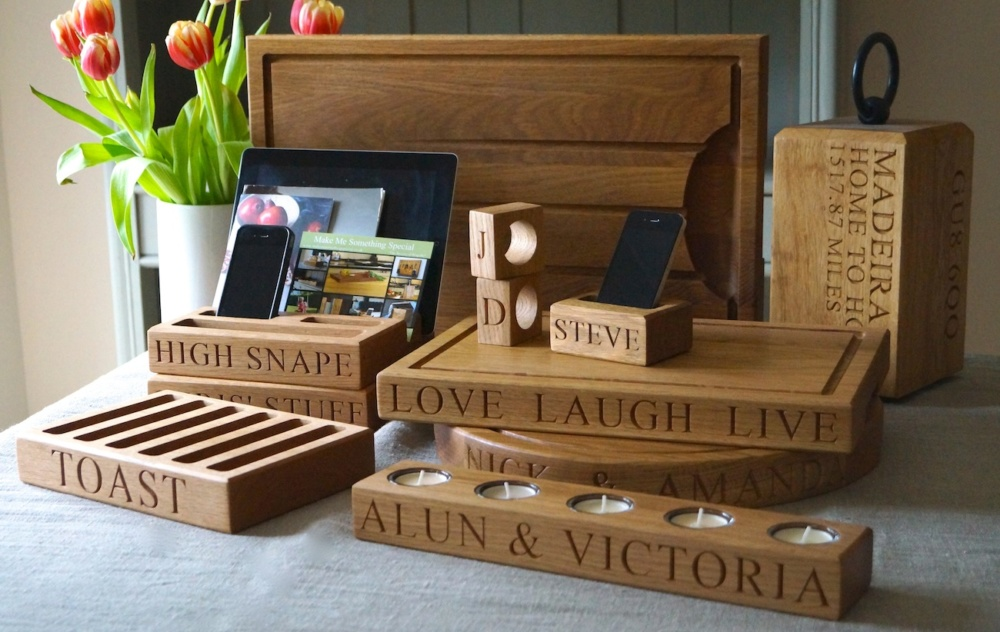 Personalised Wooden Gifts from makemesomethingspecial.com