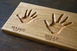 childrens personalised gifts hand impressions makemesomethingspecial.com