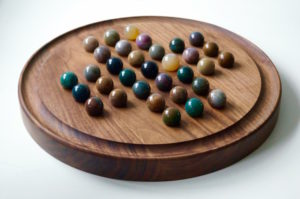 wooden-solitaire-board-with-semi-precious-marbles-makemesomethingspecial.com