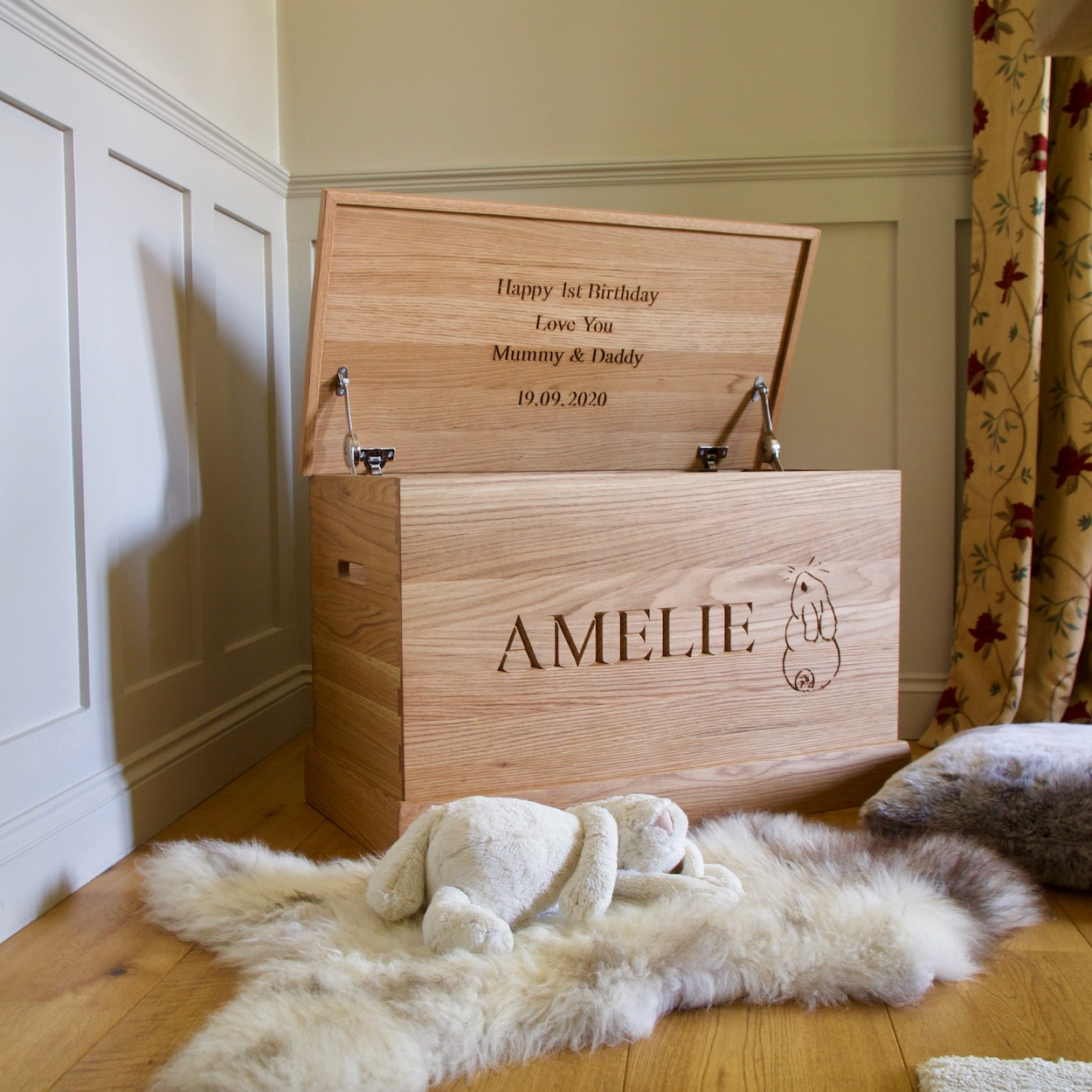Personalised Wooden Toy Box